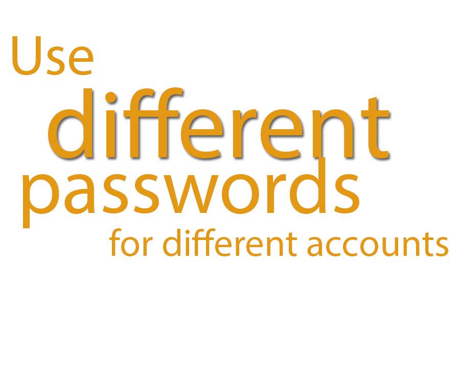 different passwords