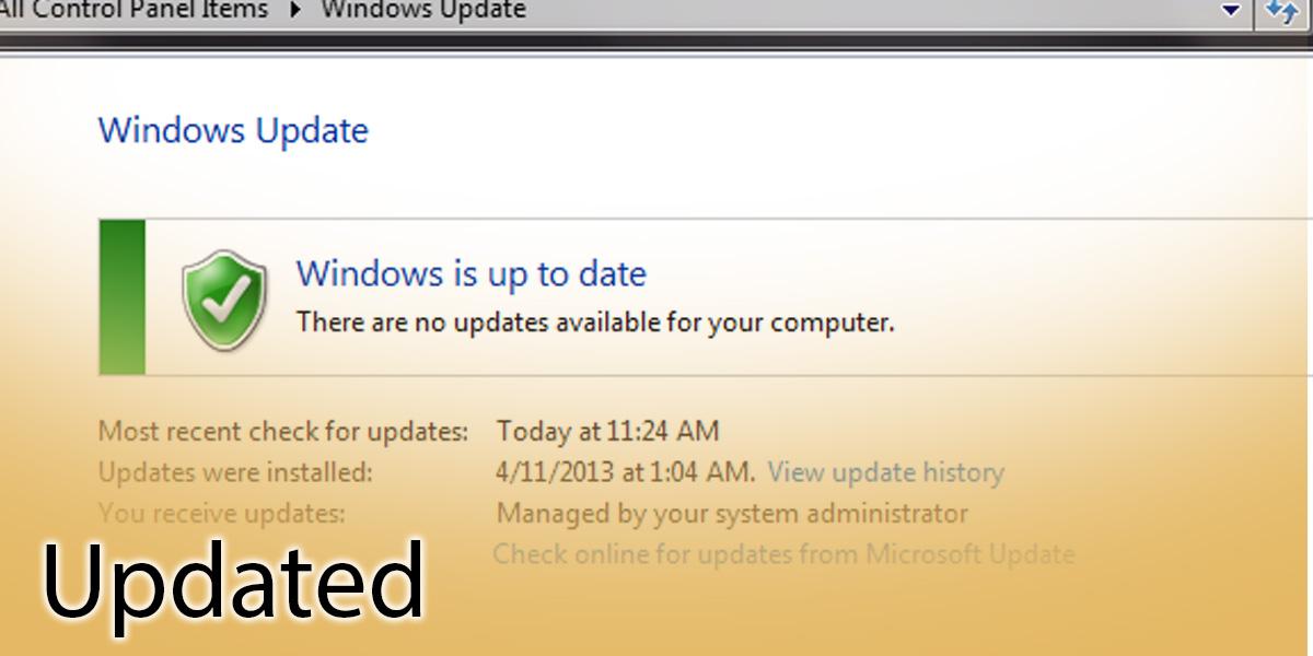 updated notification
