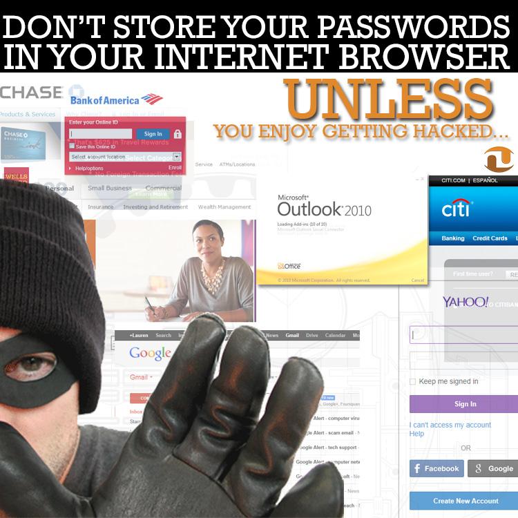 don't store passwords image