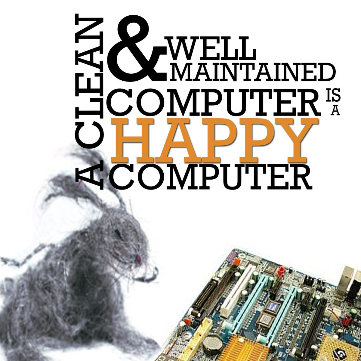 happy and clean computer