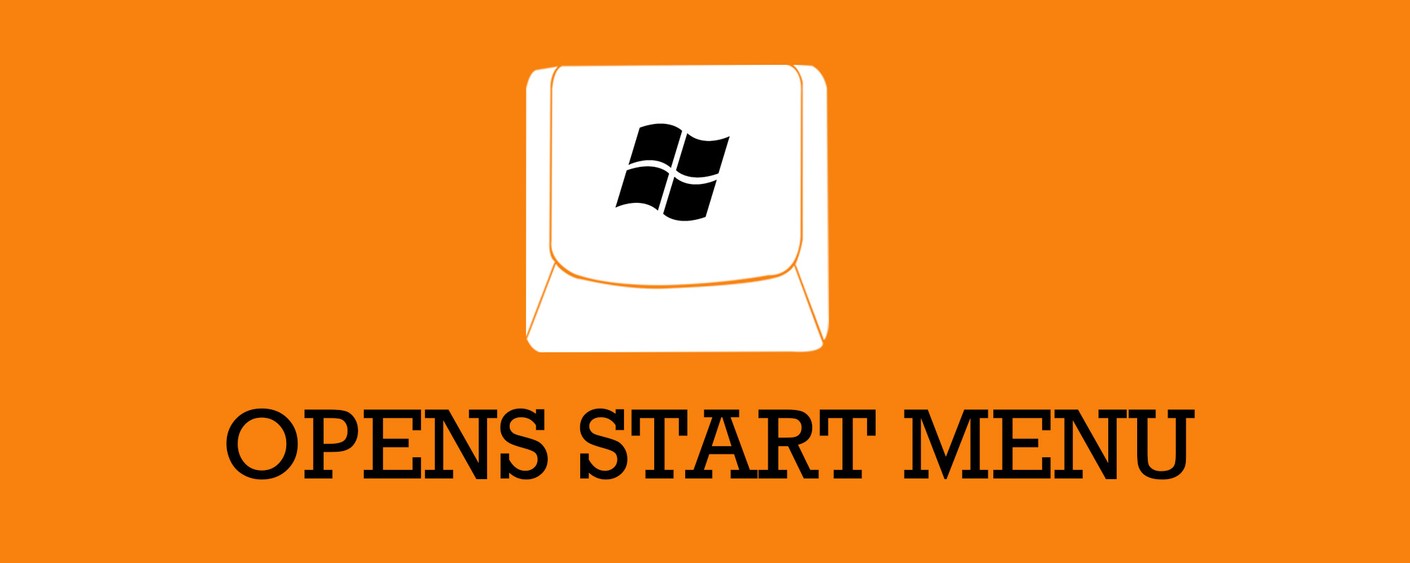 The start menu opens in Windows 8 when you use the windows key