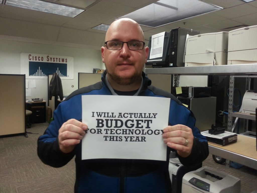 I will budget for technology this year