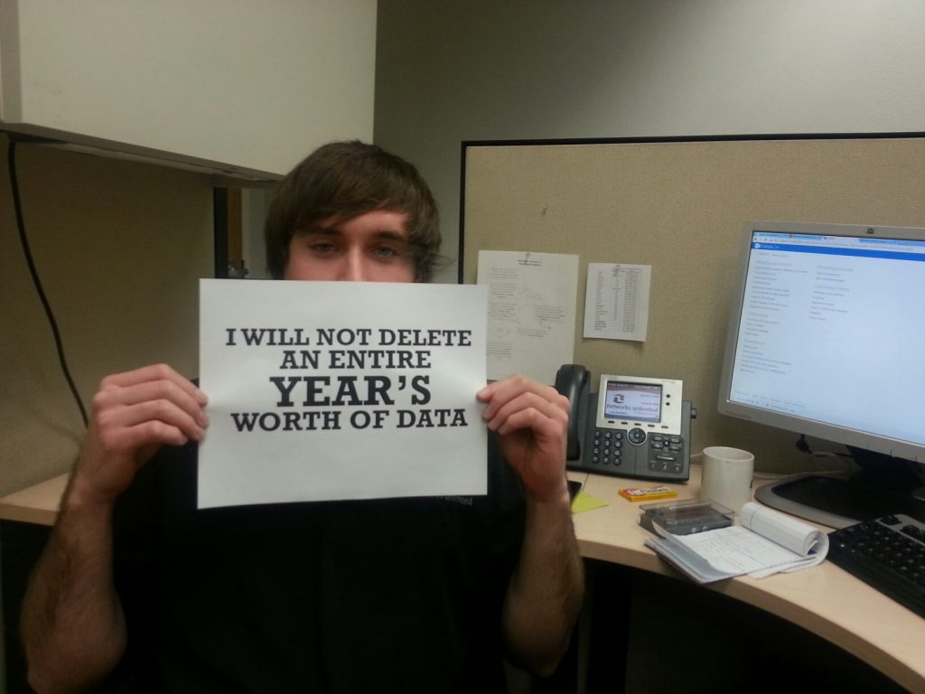 I will not delete a years worth of data