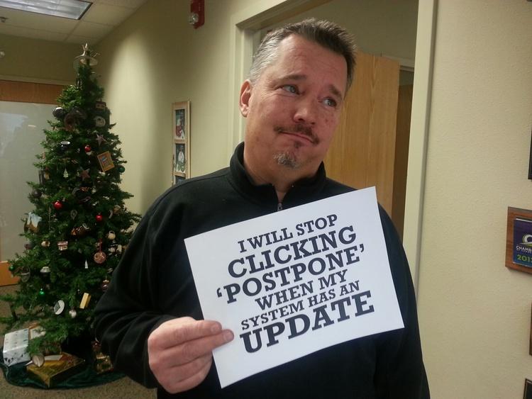 stop clicking postpone