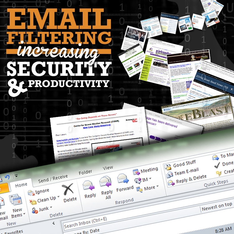 email filtering increasing security