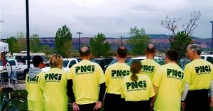 PNCI Employees take part in a bicycle rally to raise money for Rose Hill House