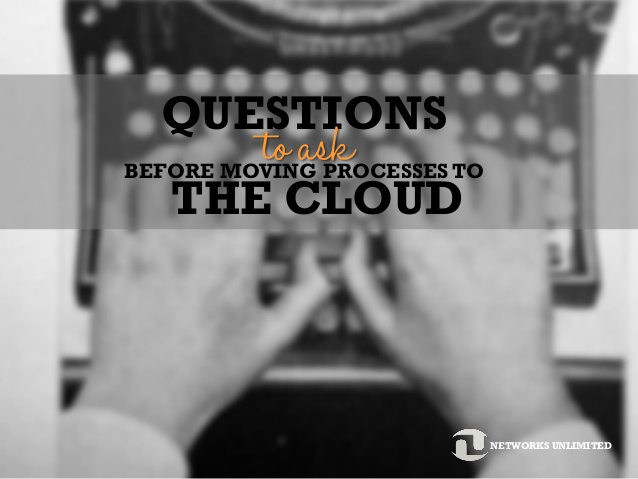 questions before the cloud