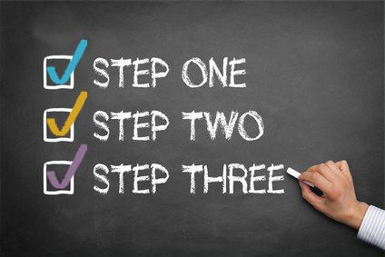 three easy steps