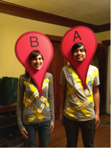 Google Map Guides costume