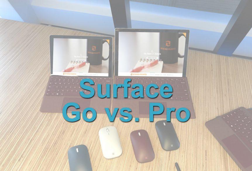 Microsoft Surface Go vs. Pro